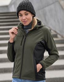 Ladies` Hooded Lightweight Performance Softshell