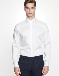 Men`s Shirt Shaped Fit Twill Longsleeve